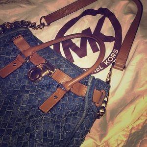 Denim&Brown Michael Kors Bag (Hamilton)